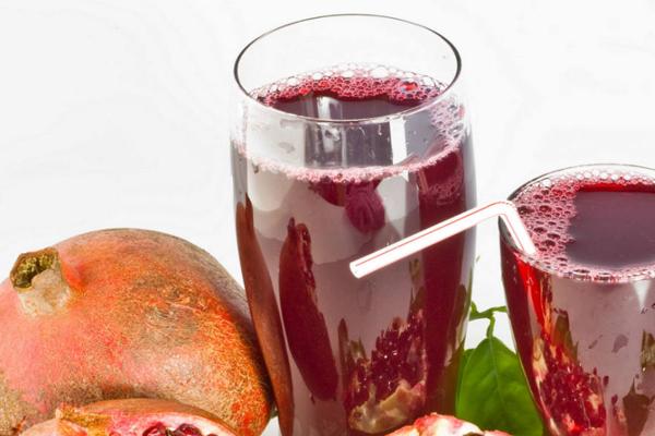 zumo de granada y el ácido elagico